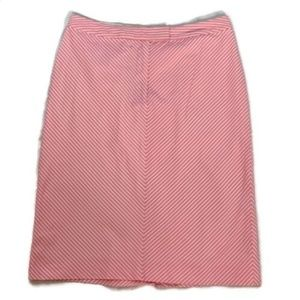 Brooks Brothers 346 pink striped cotton skirt 10